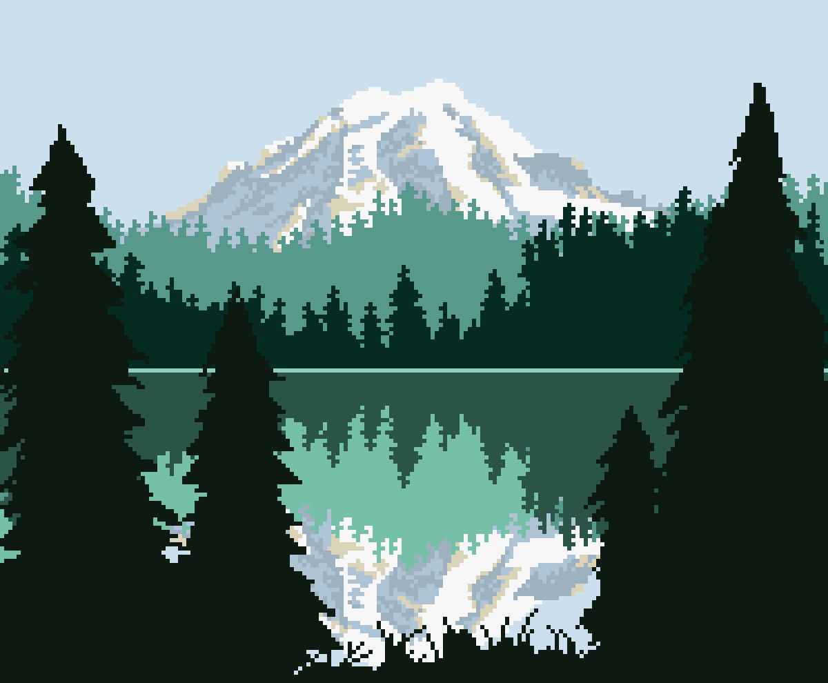 Pixilart Mountain Majesty By 8 Bit Adventure