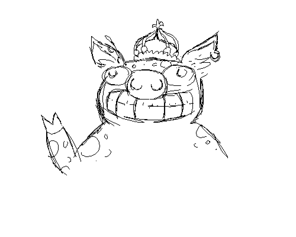 Pixilart King Pig Sketch By Nafou