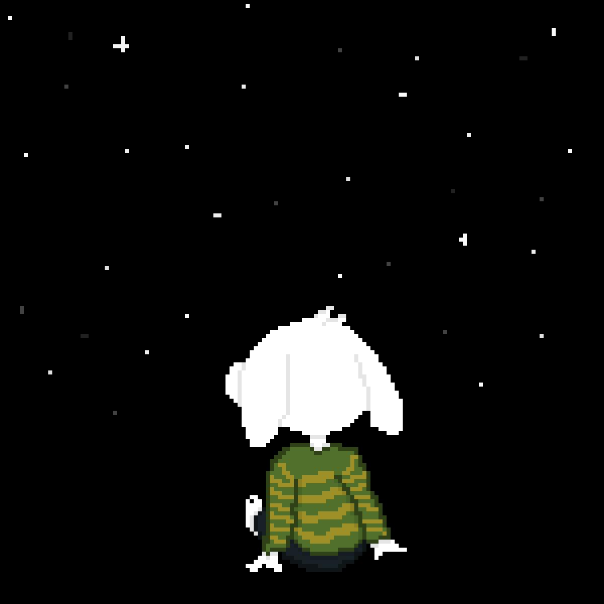 Asriel sees the stars by SnowburstWoF