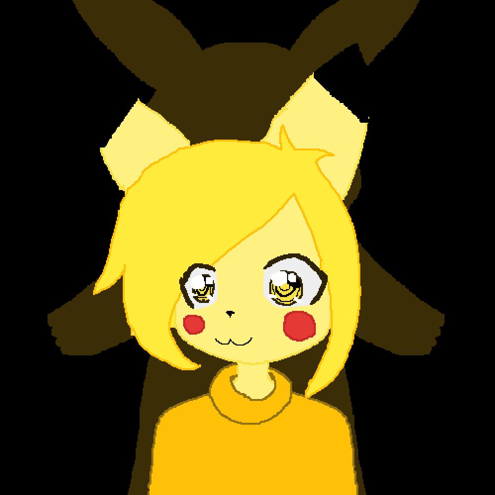 human Pikachu thing  by Meowi-me