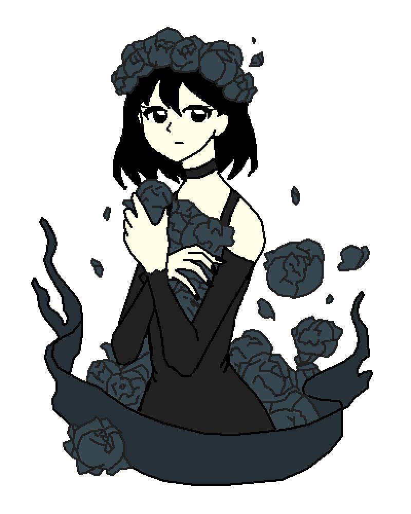 black rose by hey-girl