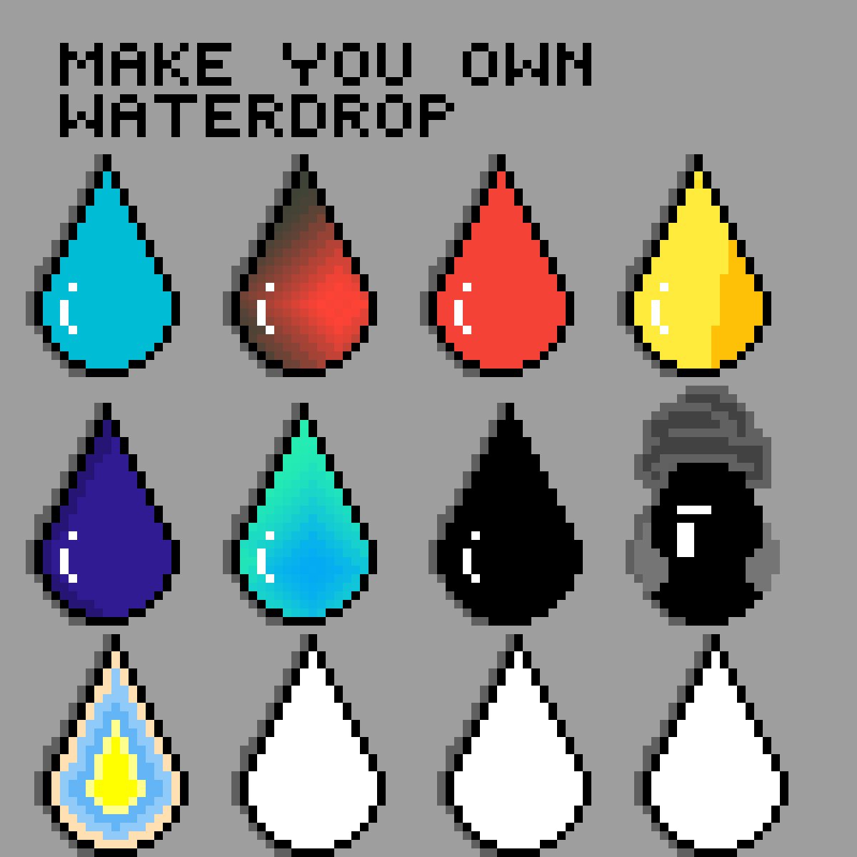 Make your own waterdrop by CupcakePearl