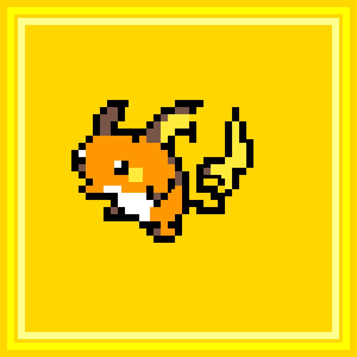 Pixilart Pokémon Pixel Art Raichu By Anonymous