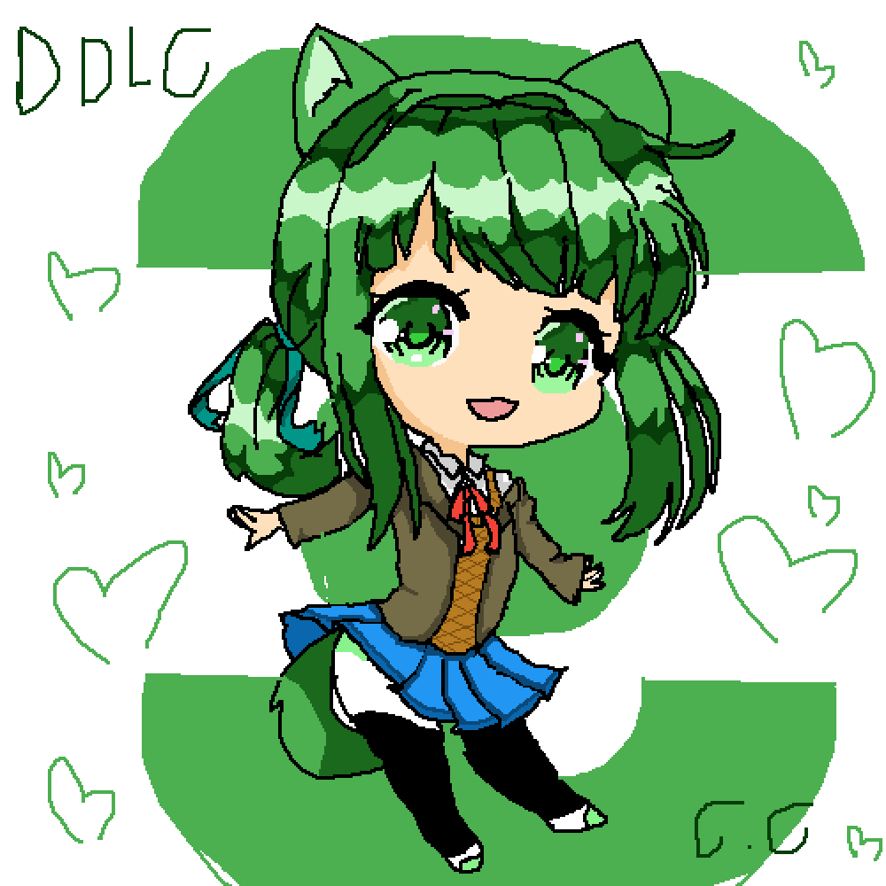 ddlc Thinner Finally i *pant* did *pant* it yaaaaayyy * by Chibi-Creates