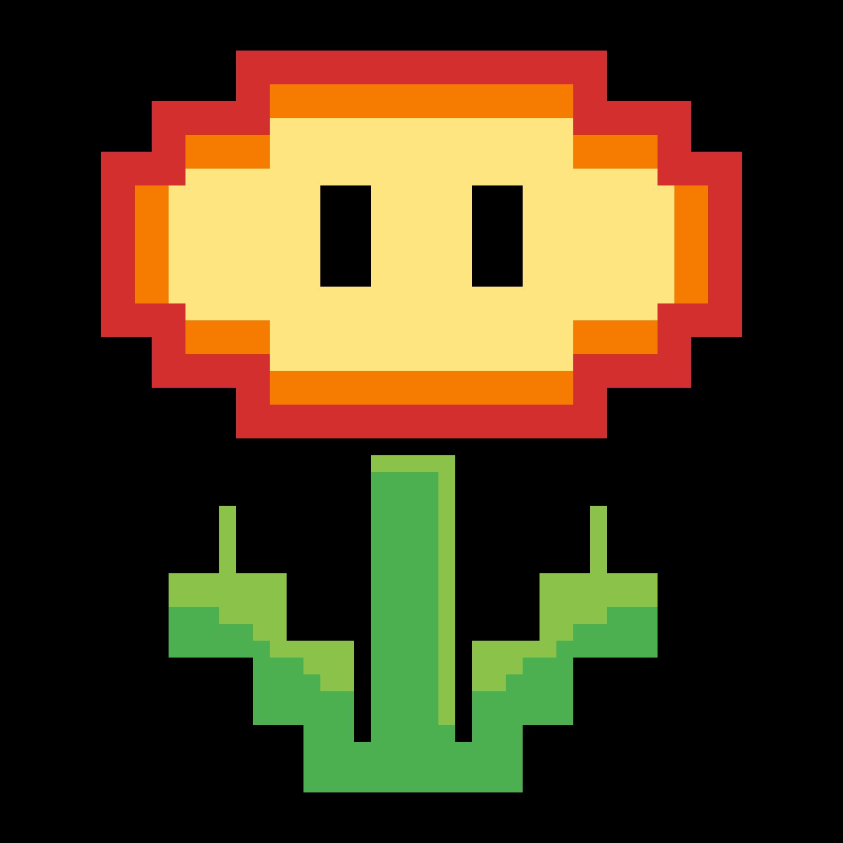 Pixilart Flor De Fuego Mario Bros By Victoriaa30