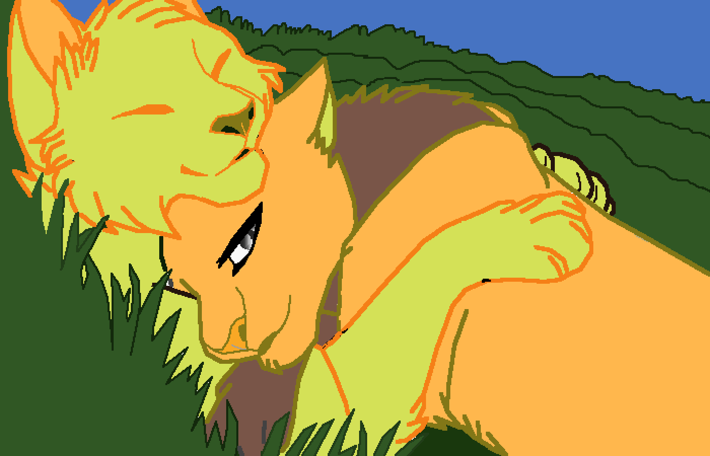 main-image-mango and squirrel(kittypet ocs)  by Enester