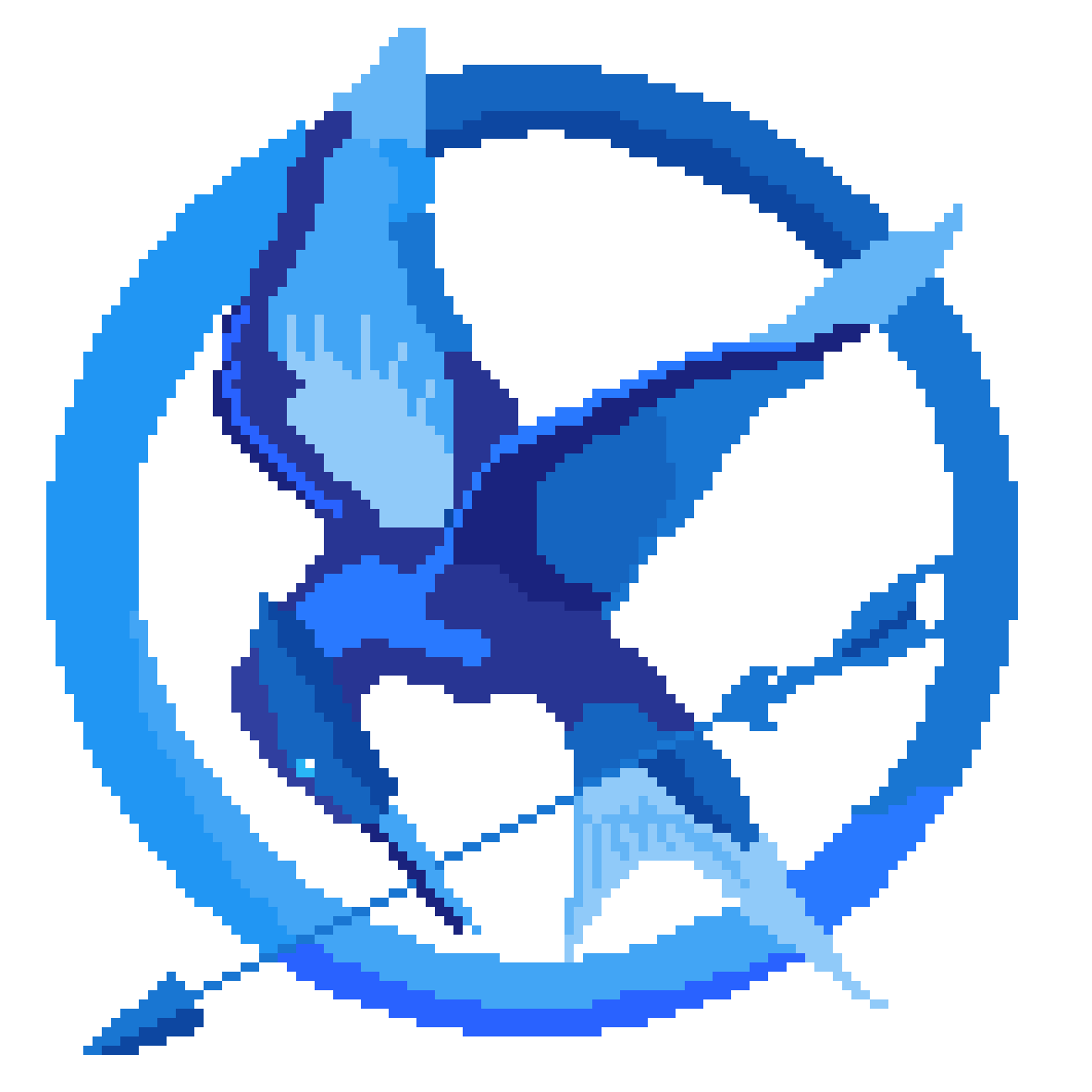 Pixilart Blue Mockingjay Symbol The Hunger Games By Lachy The Fairy