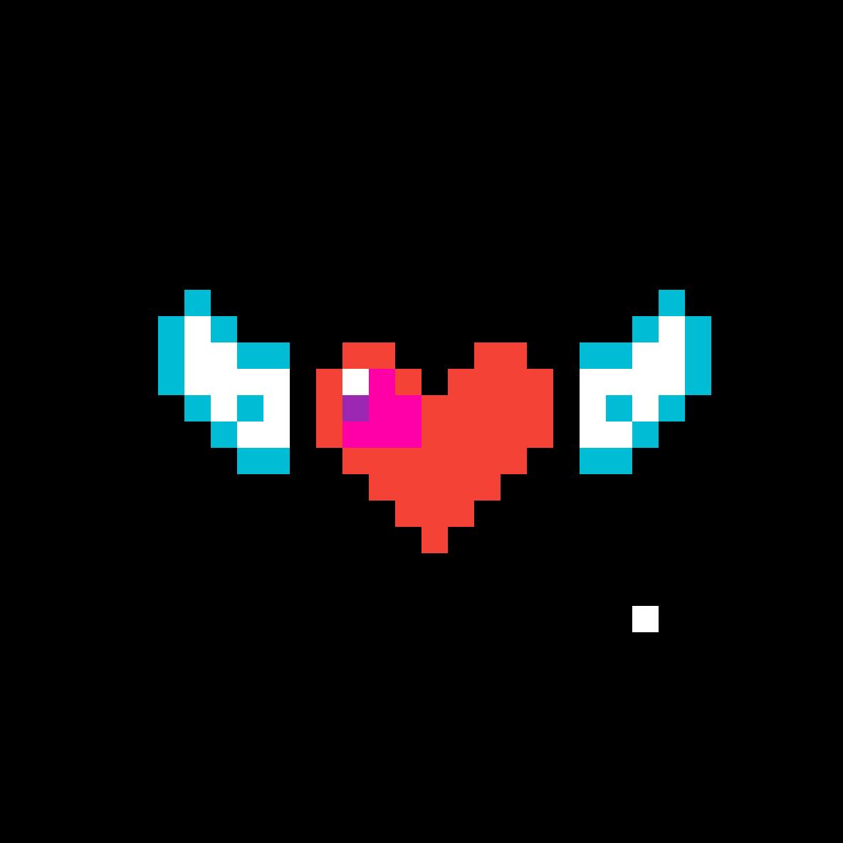 Pixilart El Corazón Con Alas By Anonymous
