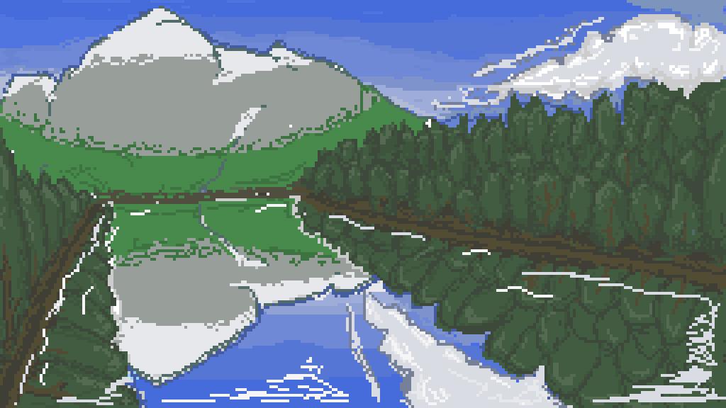 mountain reflection by firestar