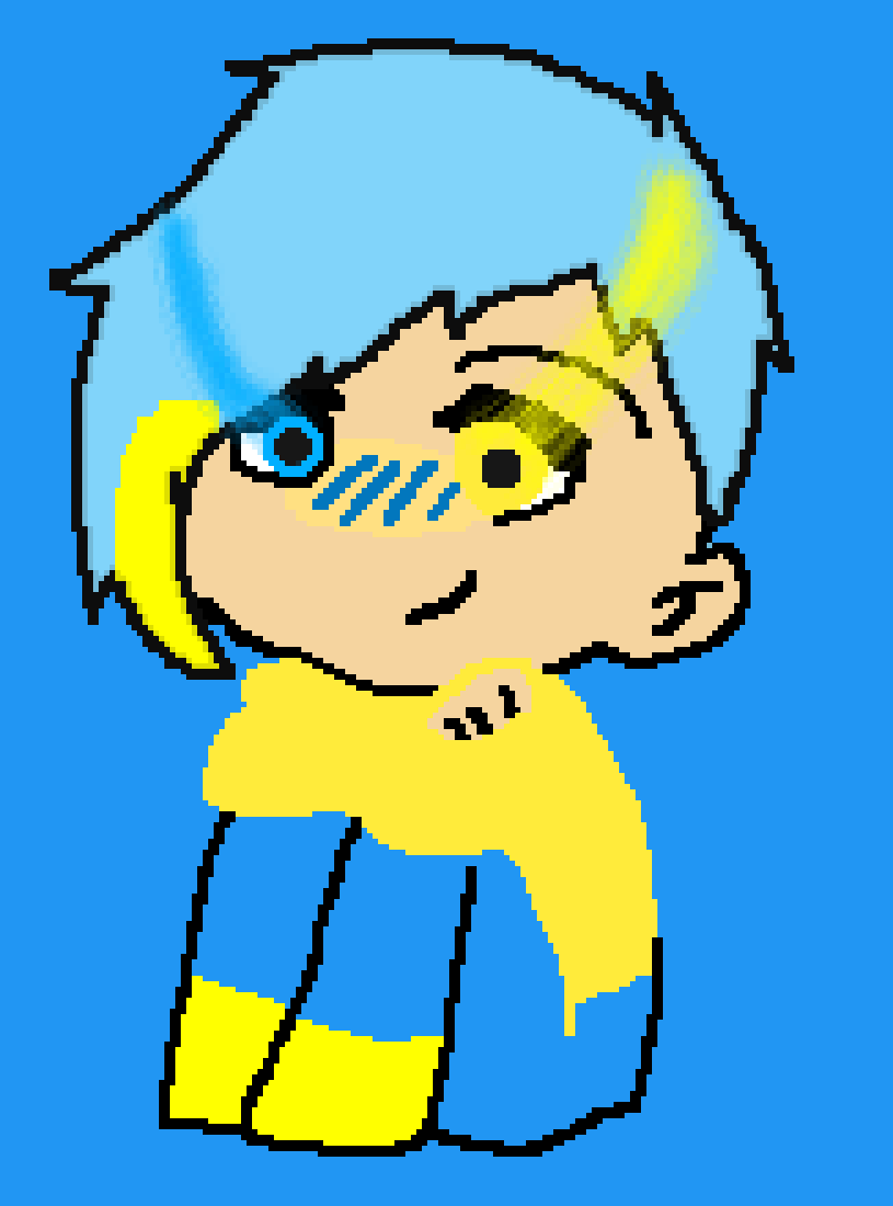 Judgement Girl With Her Eyes Glowing by ILOVEPIXELART