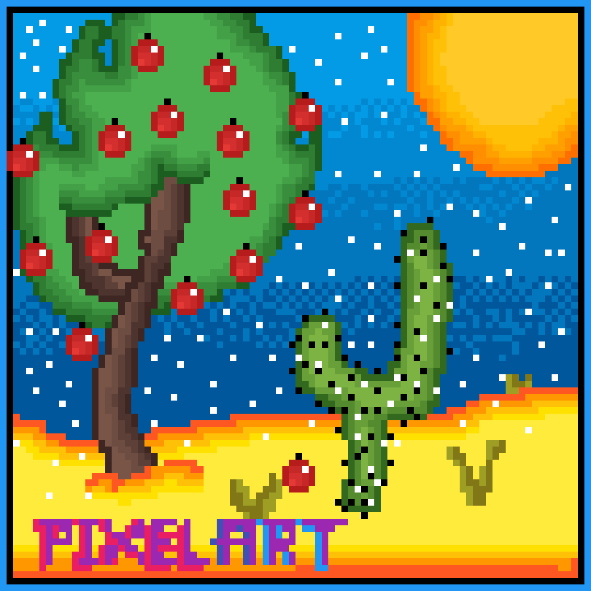 "Only ""APPLE"" tree in the Desert by DrawingPixelPro"