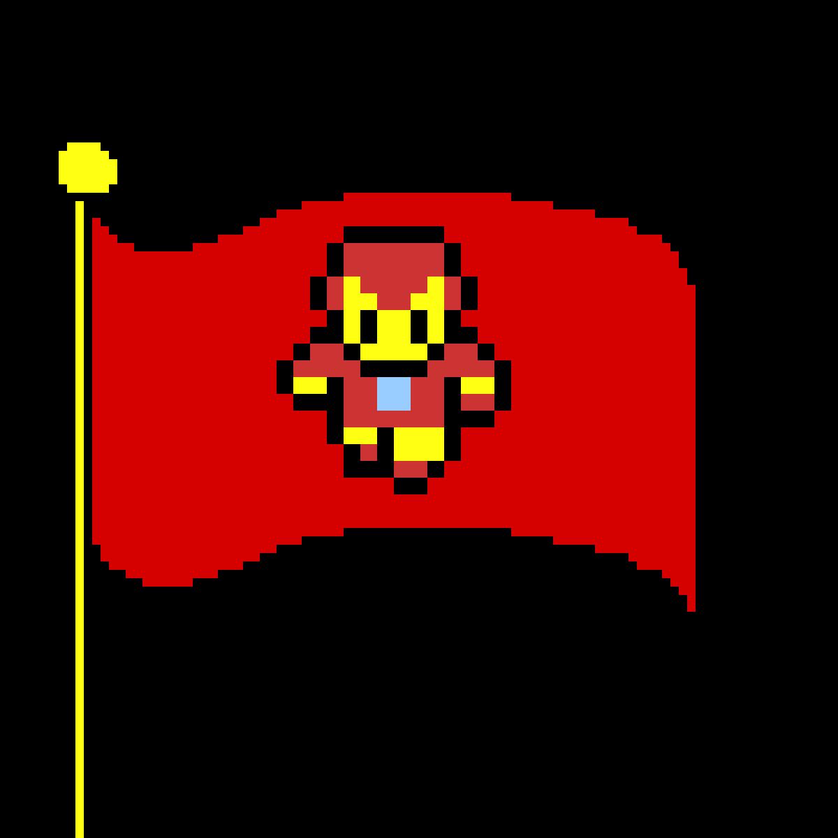 iron man flag in mario by XXXghousthunter