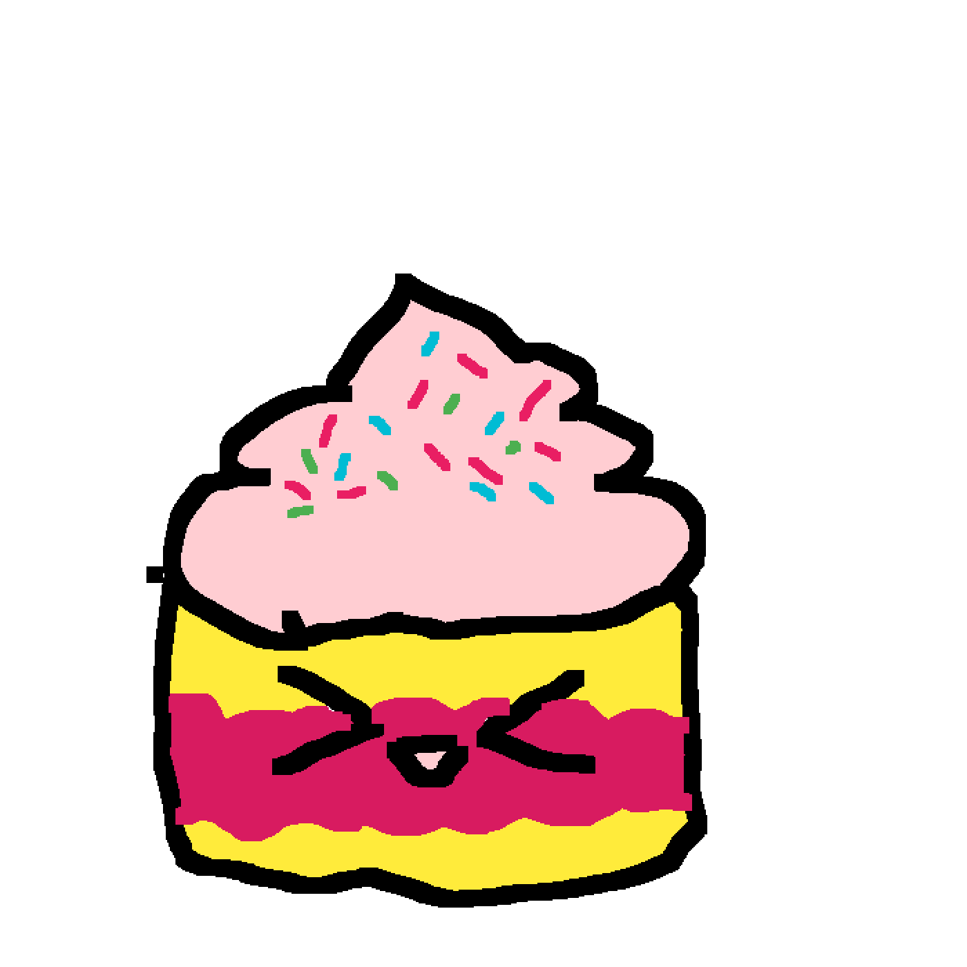 Pixilart Kawaii Ish Cupcake By Derpydrawing
