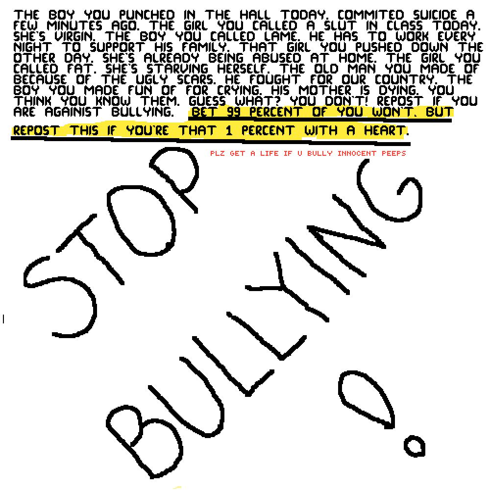 STOP BULLYING by Lulucalulu4