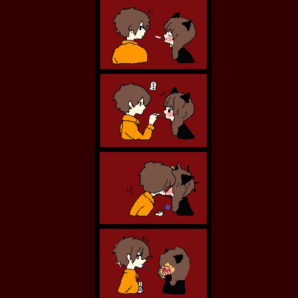 the pocky game by tamakiamajiki