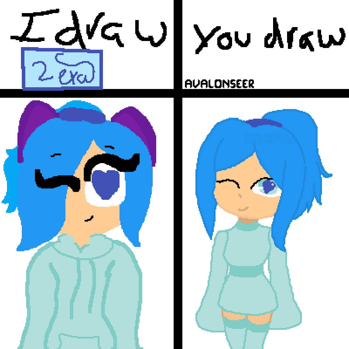 I Draw,You Draw ( Collab: @lexaiskewl ) by AvalonSeer