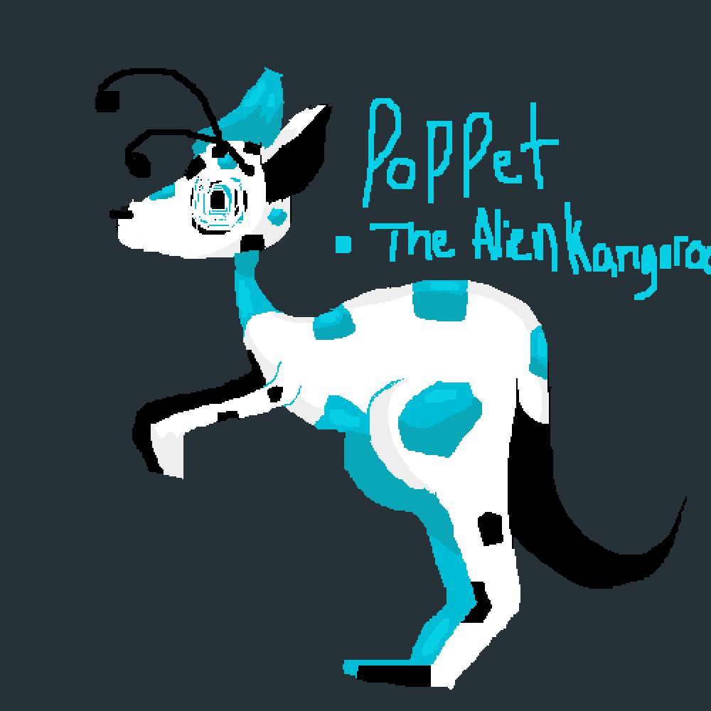 Poppet The Alien Kangaroo