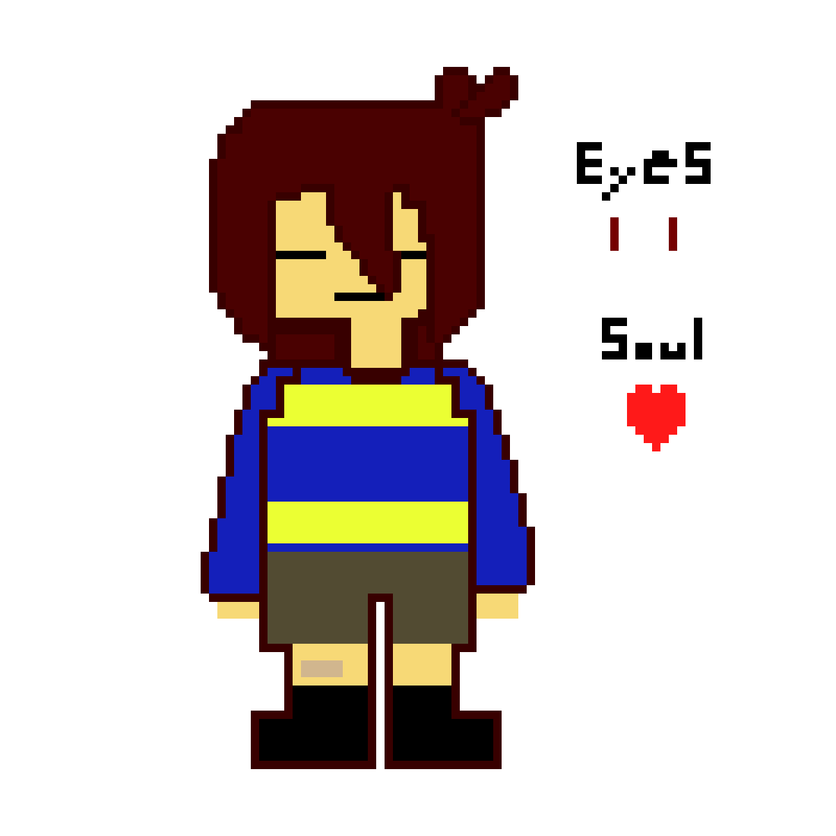 Pixilart - Chara Sprite Bluetale (WIP) by Anonymous