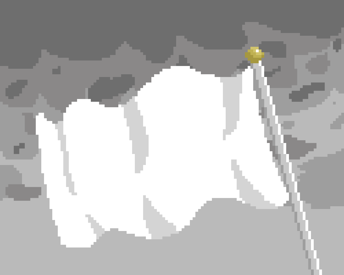 Flag Of Surrender by Floof
