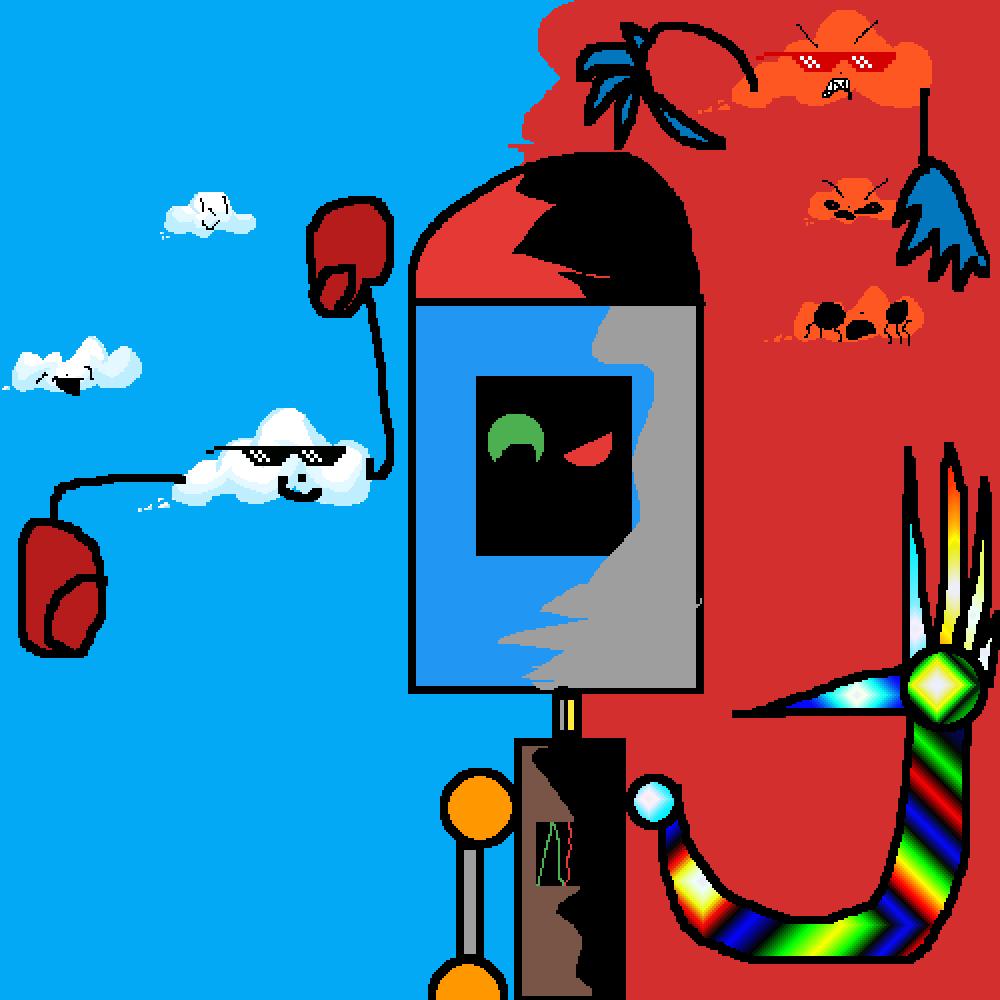 pixilart robot exe by art manRbot.exe #6