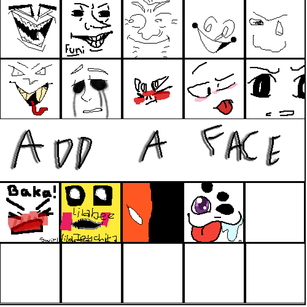 add a face  by Poki-Draggo