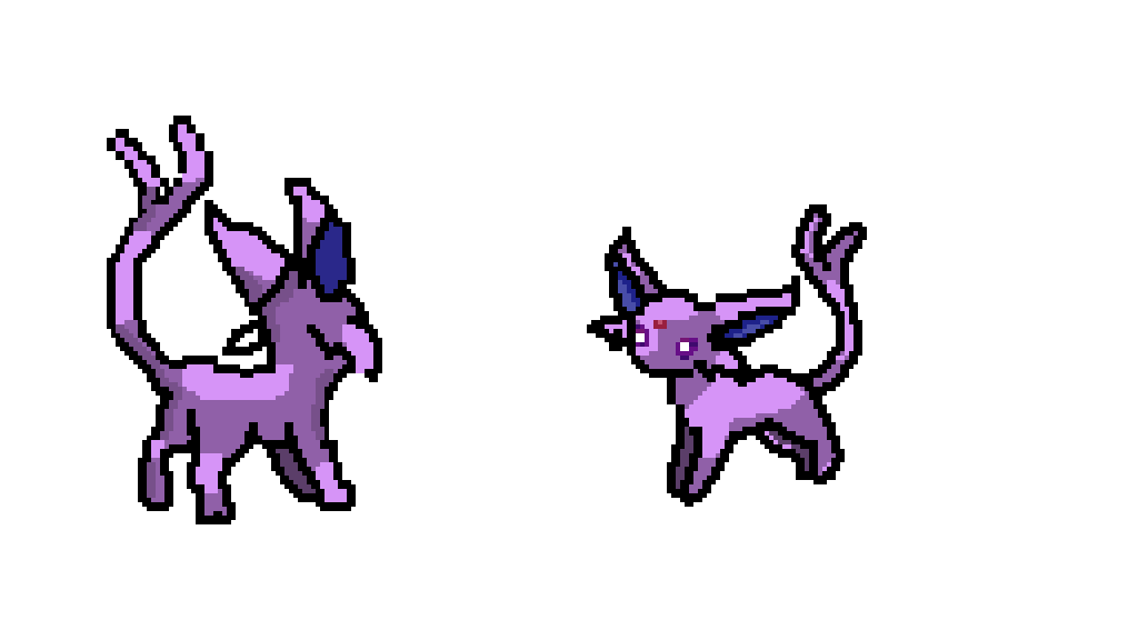 Espeon Back & Front by Galaxy-Shadow