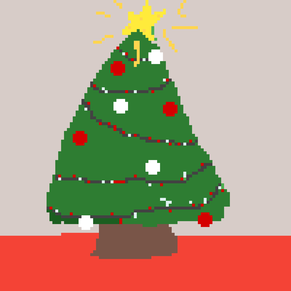 x mas tree by ClemLovesArt