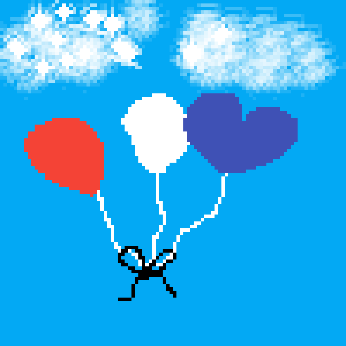 Floating Balloons by HudaTheHooman