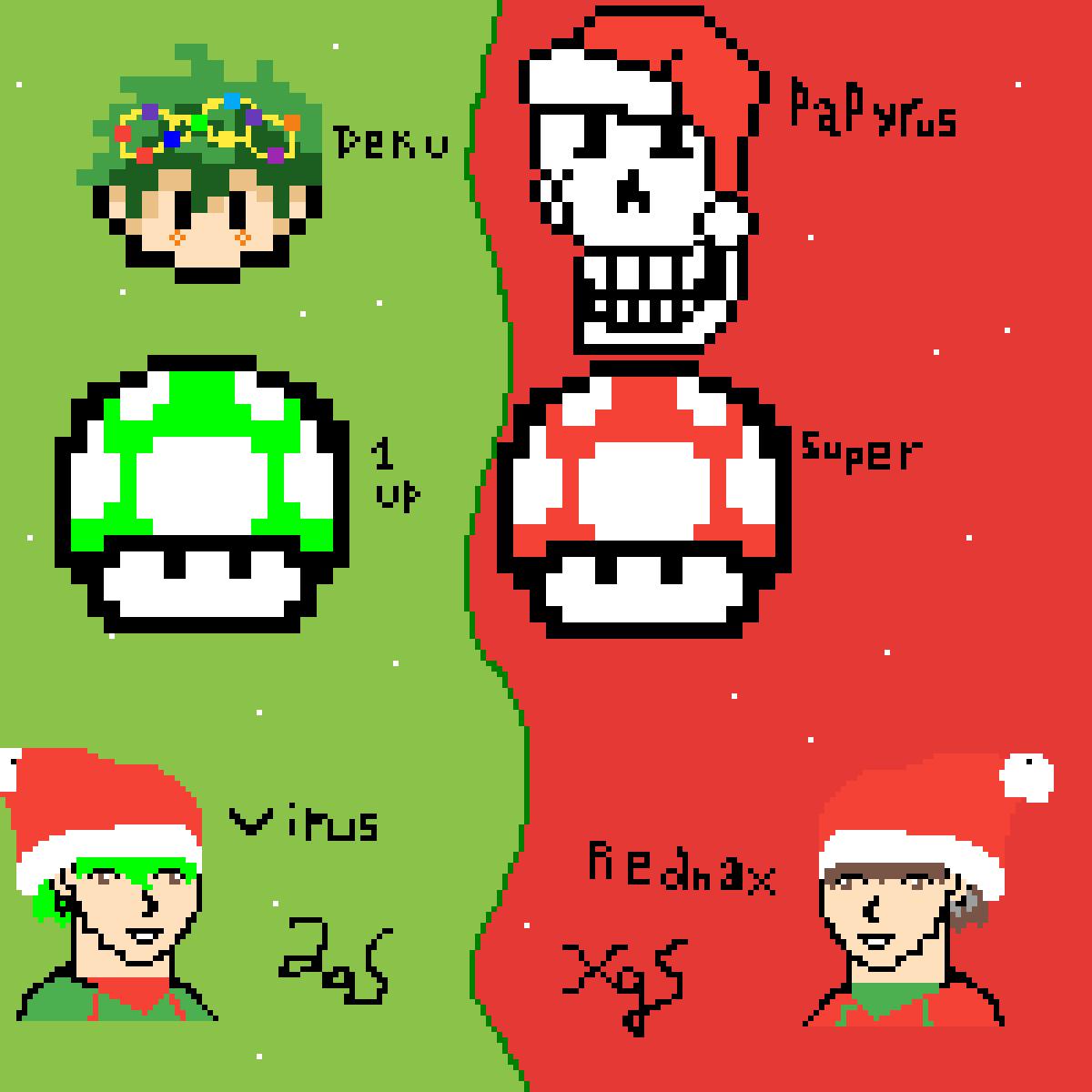 SHËRM Christmas Collab. by lil-virus