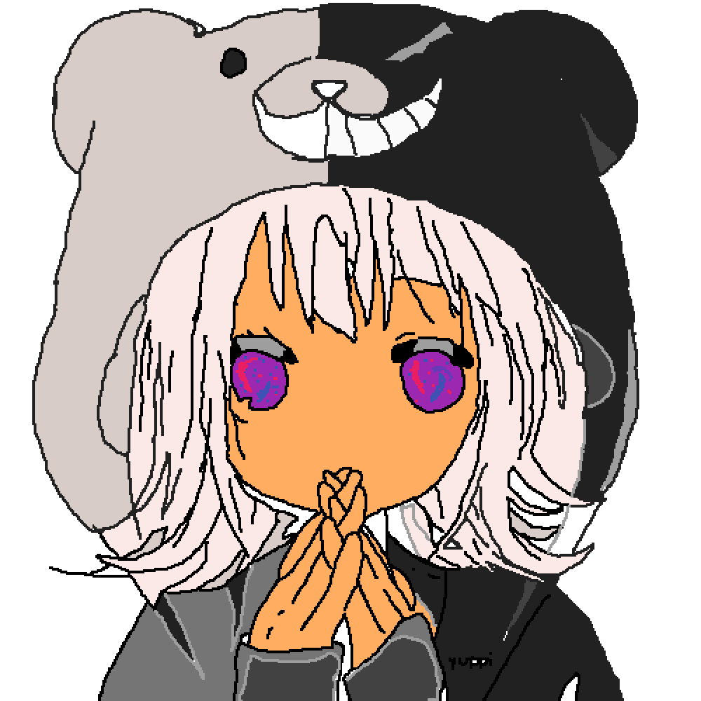 White hair anime girl