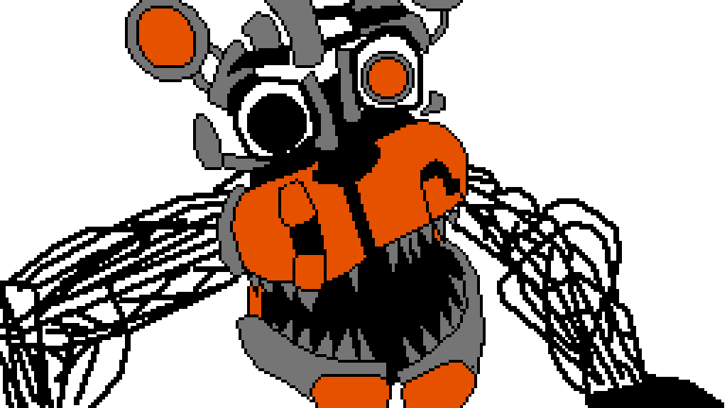 Pixilart - 3 color molten freddy by Tuxedoedabyss03