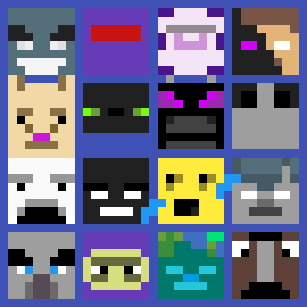 Pixilart Minecraft Mob Heads 3 By Stillchill