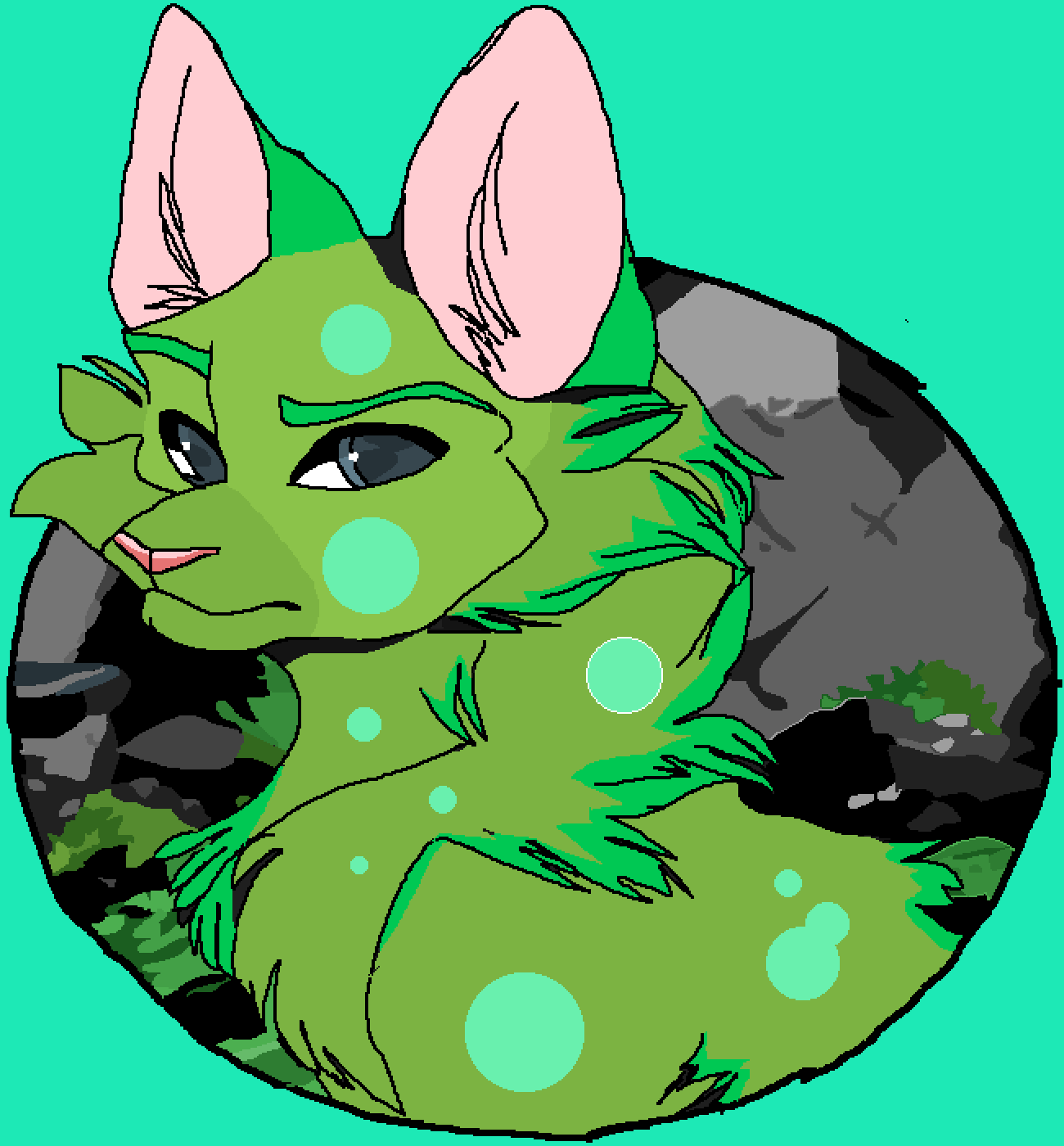moss dog by misfitgalreturn