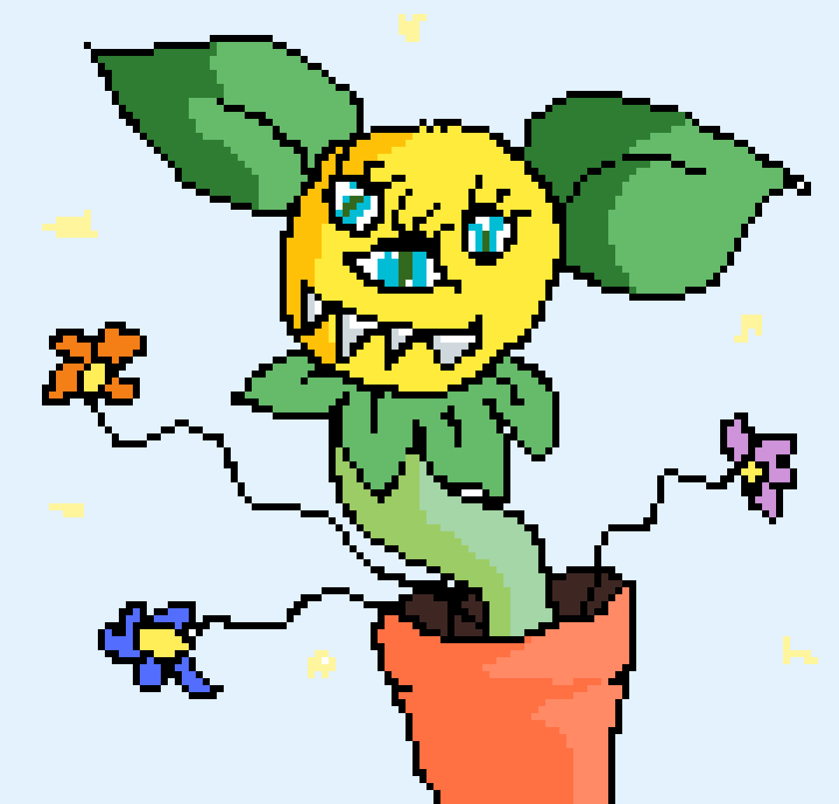 Plant monster by Meekly