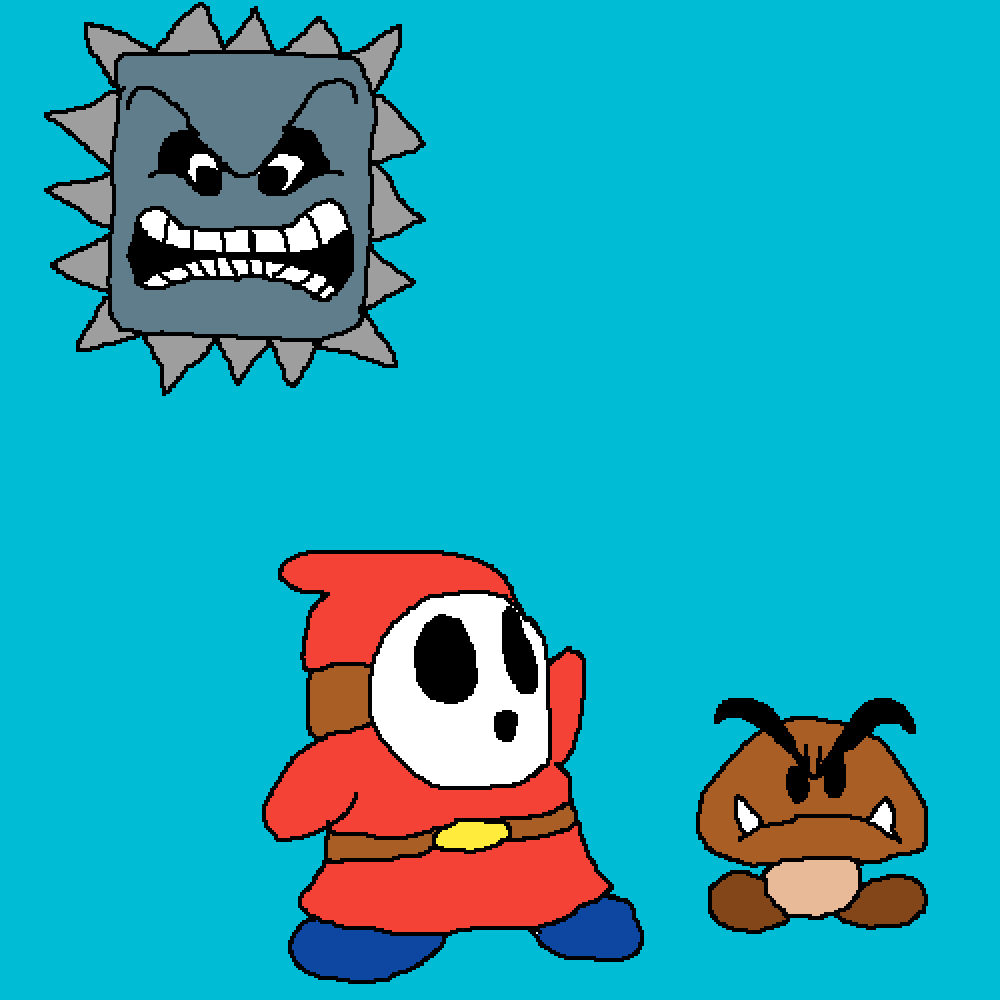 Shy Guy (Upgraded) (feat. Goomba and Thwomp) (super mar by RebelBiscuit546