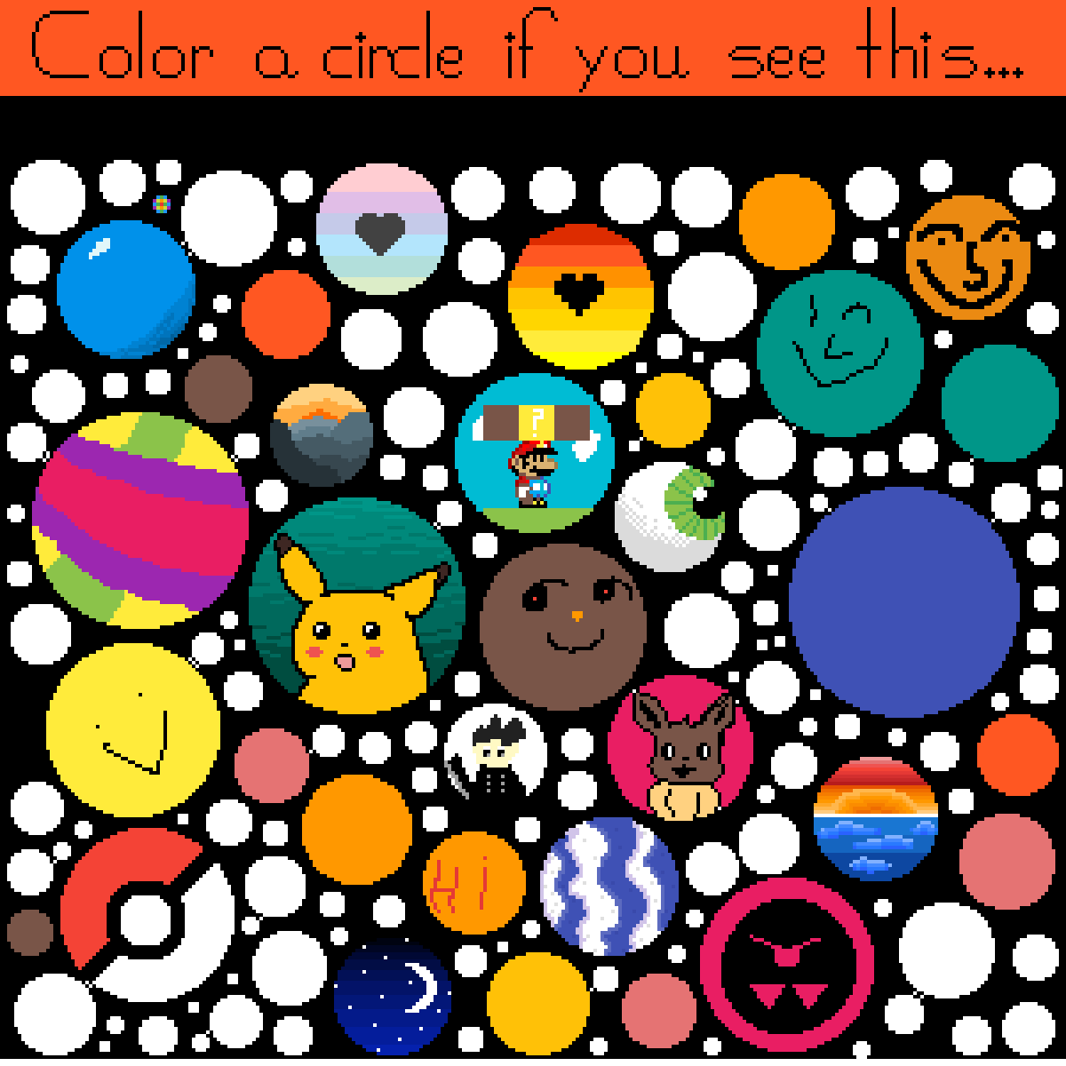 A lot Of Circles by OrangeBowser039