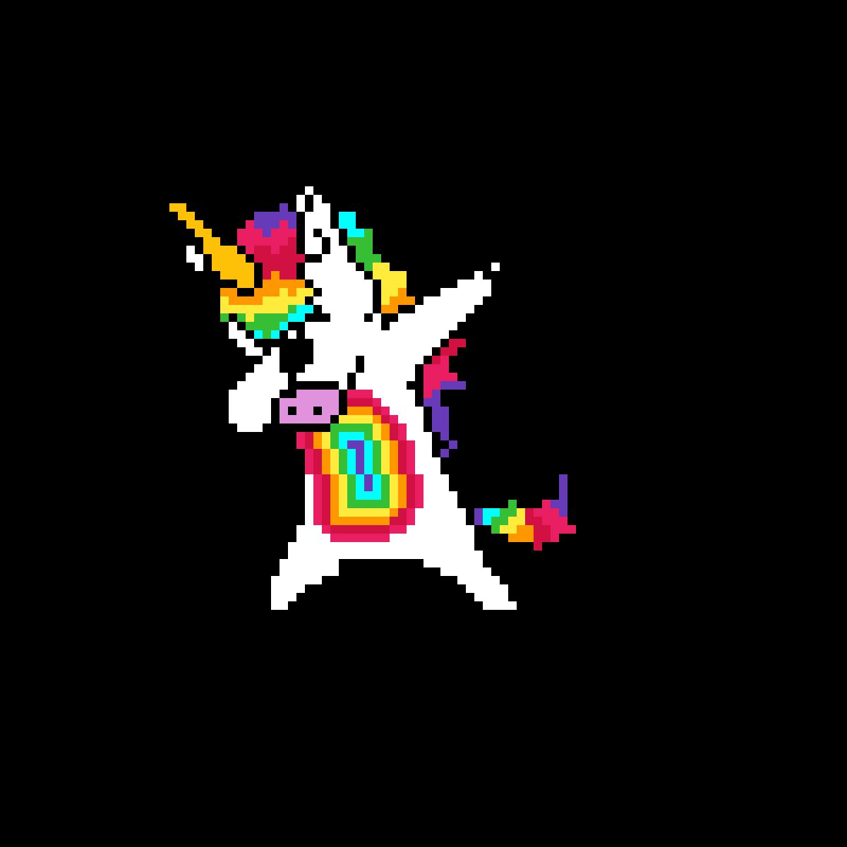 pixilart dabing unicorn by strangeturtle