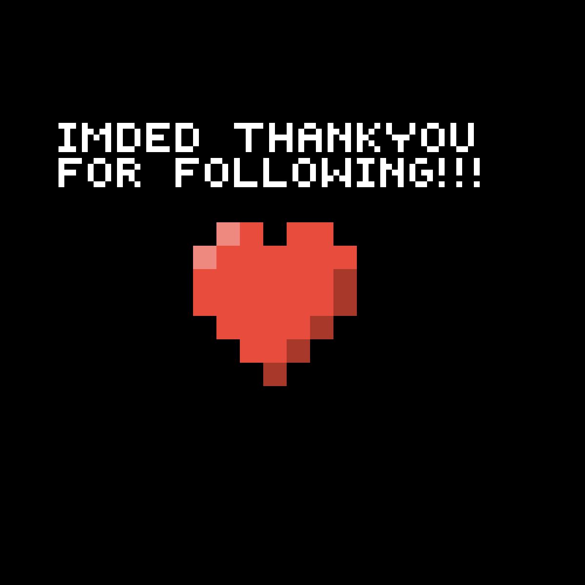 Thank you first follower by MiracleMerch