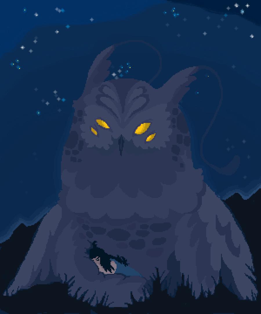 Night spirit  by linapo