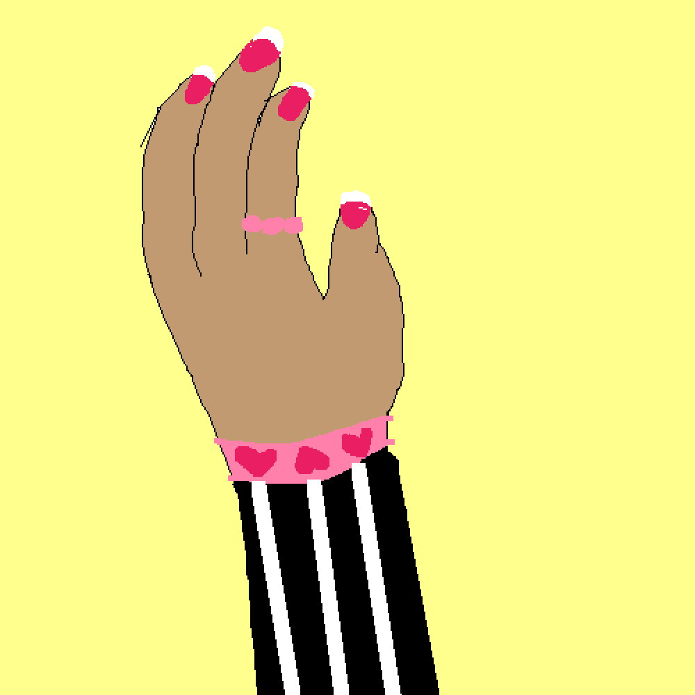 my hand ig (with a bracelet, ring, and nail polish lol) by GucciGlory