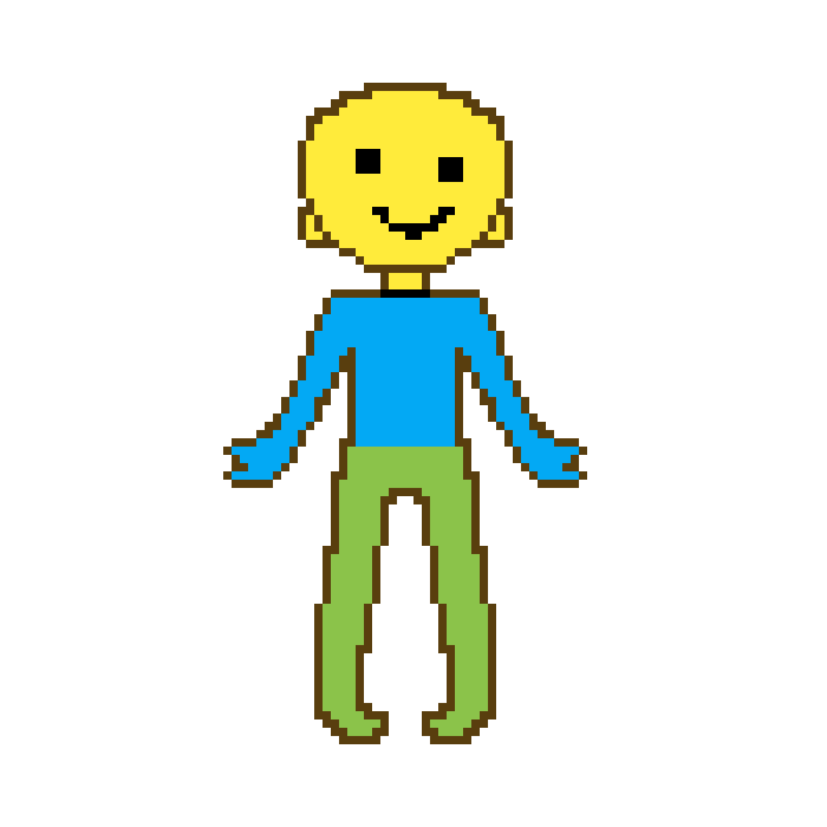 Pixilart Roblox Noob By Anonymous