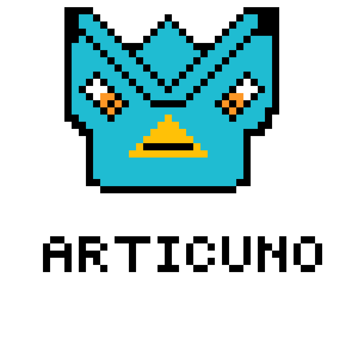 Articuno's face by PixelatorMan