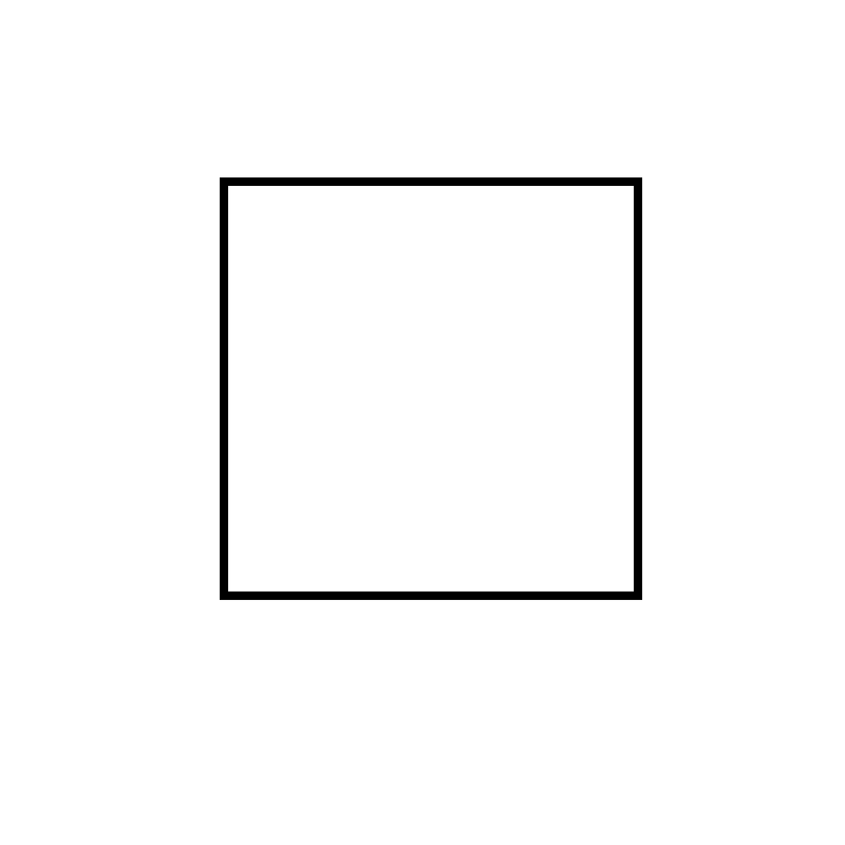 Рисунок квадрата карандашом