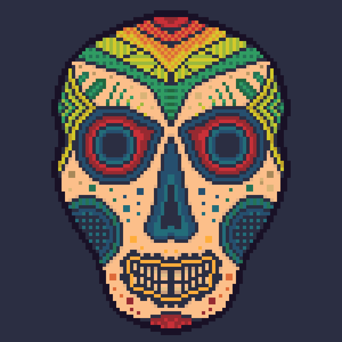 Mexican mask by Tibipad