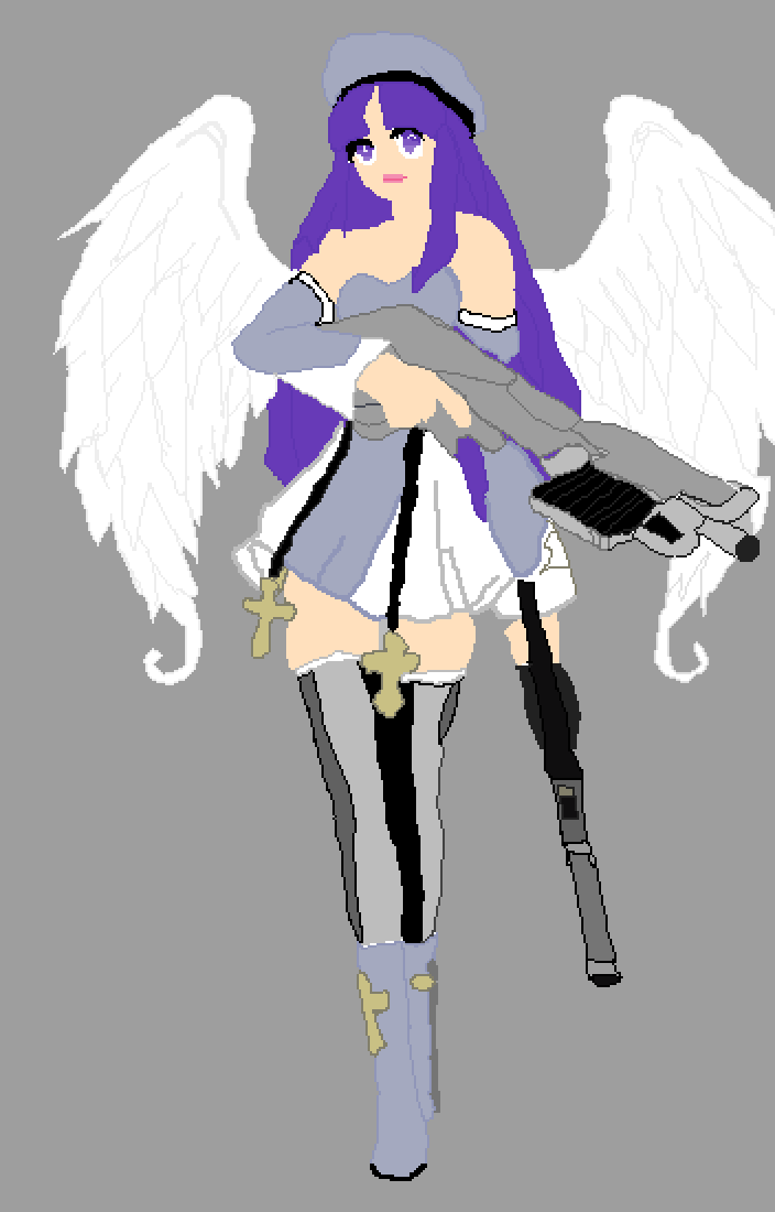 angel with a shotgun by simbagirl