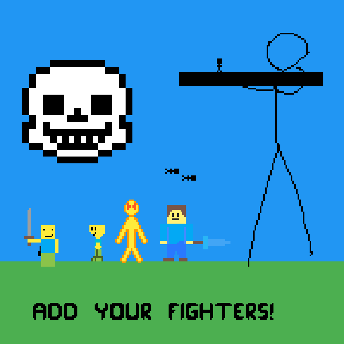 Add your own fighters! by GradyTurtle