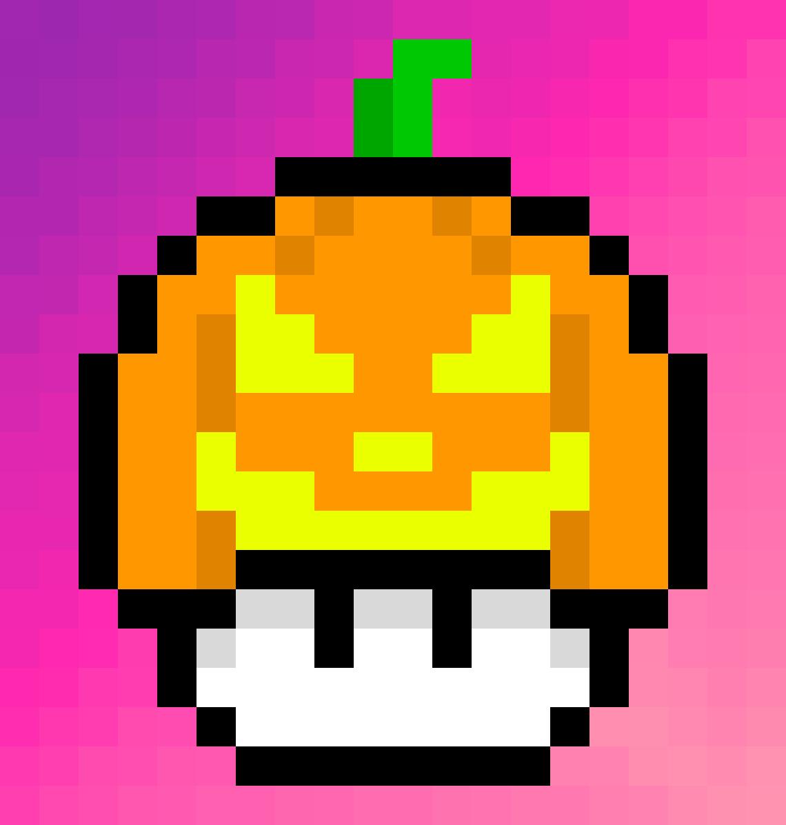 Pixilart Pumpkin Mario Mushroom By Jear The Mudkip