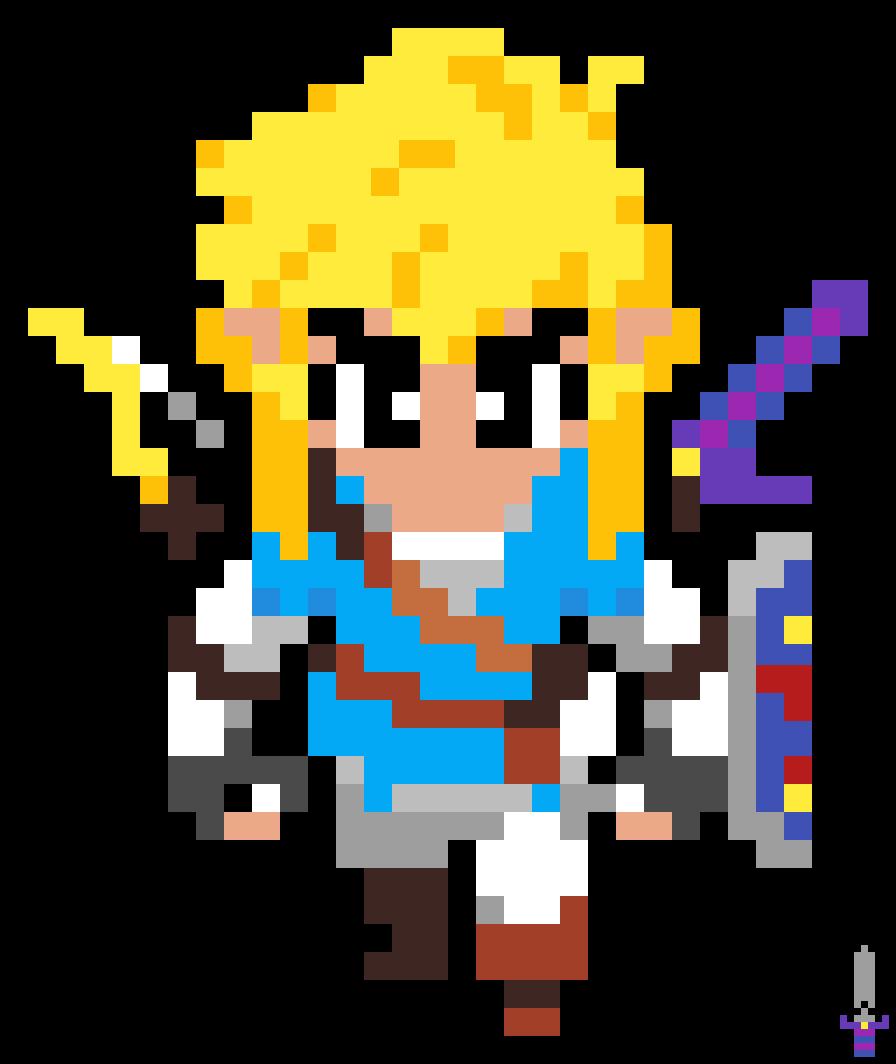 Pixilart The Legend Of Zelda Botw Link By Wenamon 117
