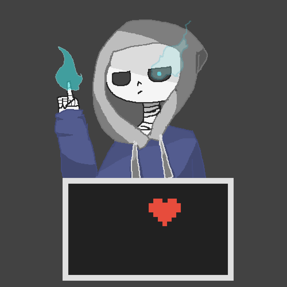 first time drawing sans :p