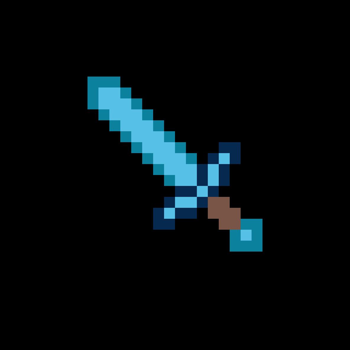 Pixilart - Minecraft Diamond Sword by Thomas-Train